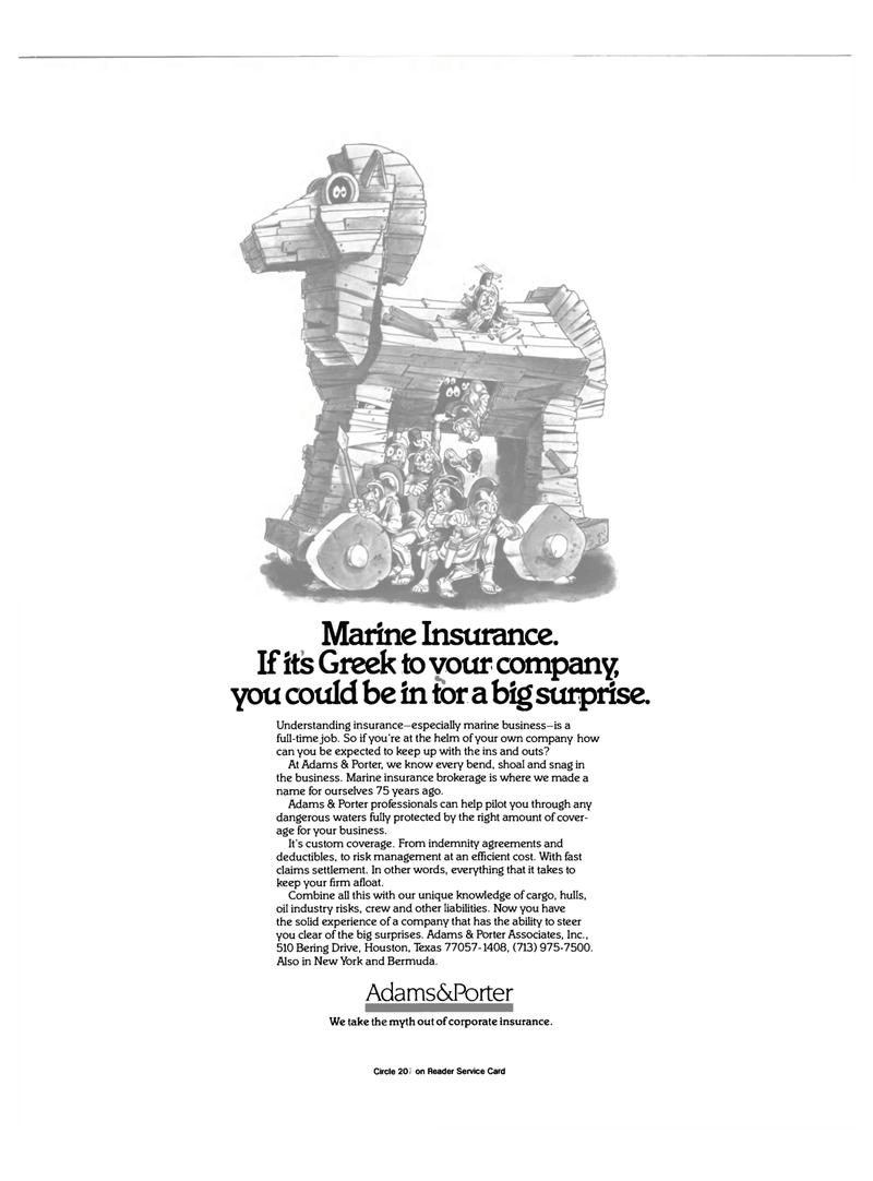 Maritime Reporter Magazine, page 2nd Cover,  Oct 15, 1985 Marine insurance brokerage