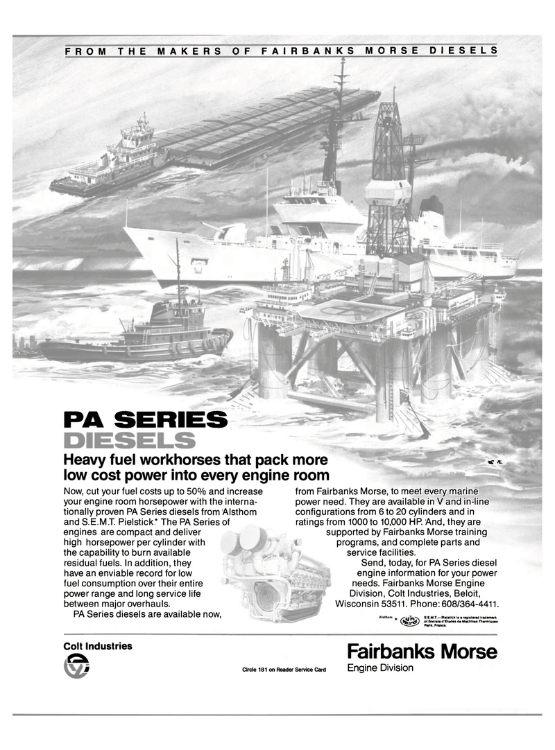 Maritime Reporter Magazine, page 29,  Oct 15, 1985 France