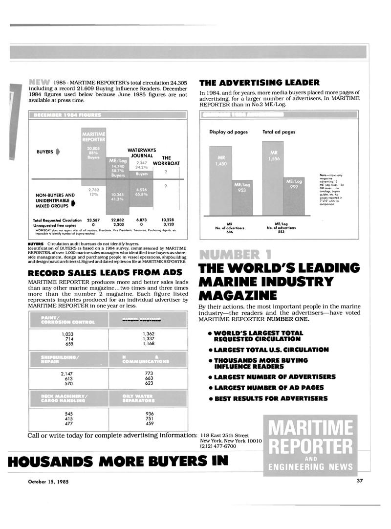 Maritime Reporter Magazine, page 35,  Oct 15, 1985 media buyers
