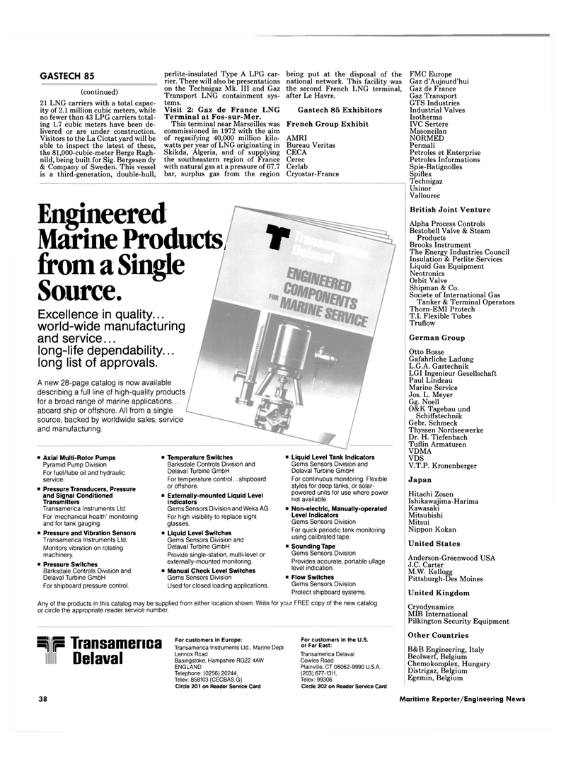 Maritime Reporter Magazine, page 36,  Oct 15, 1985 Connecticut