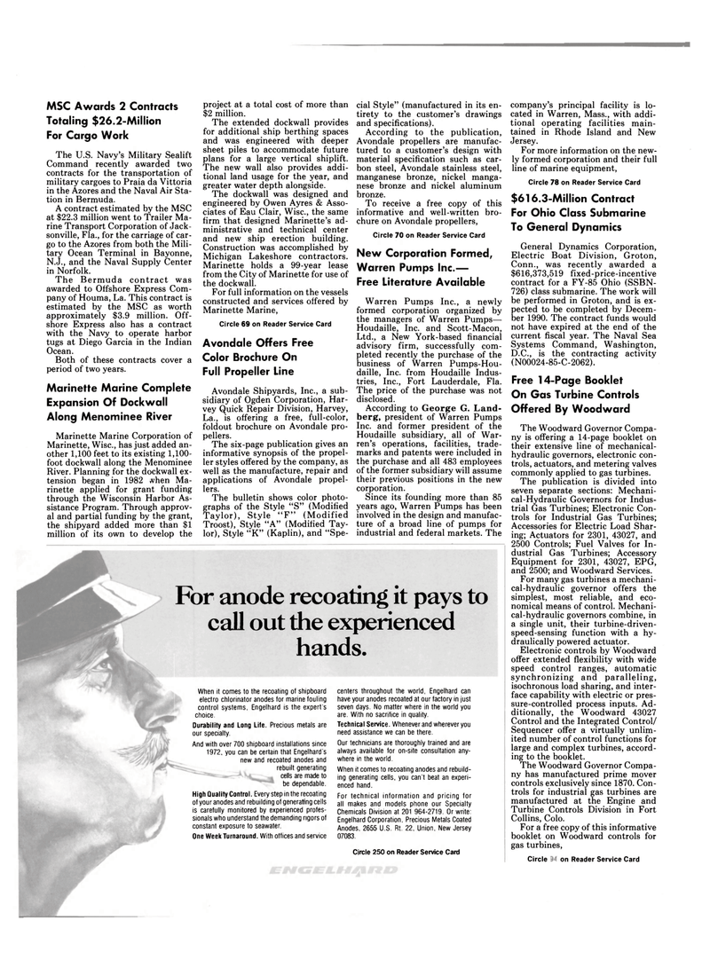 Maritime Reporter Magazine, page 6,  Oct 15, 1985 Connecticut