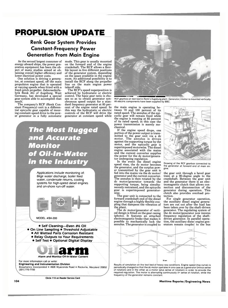Maritime Reporter Magazine, page 98,  Nov 1985