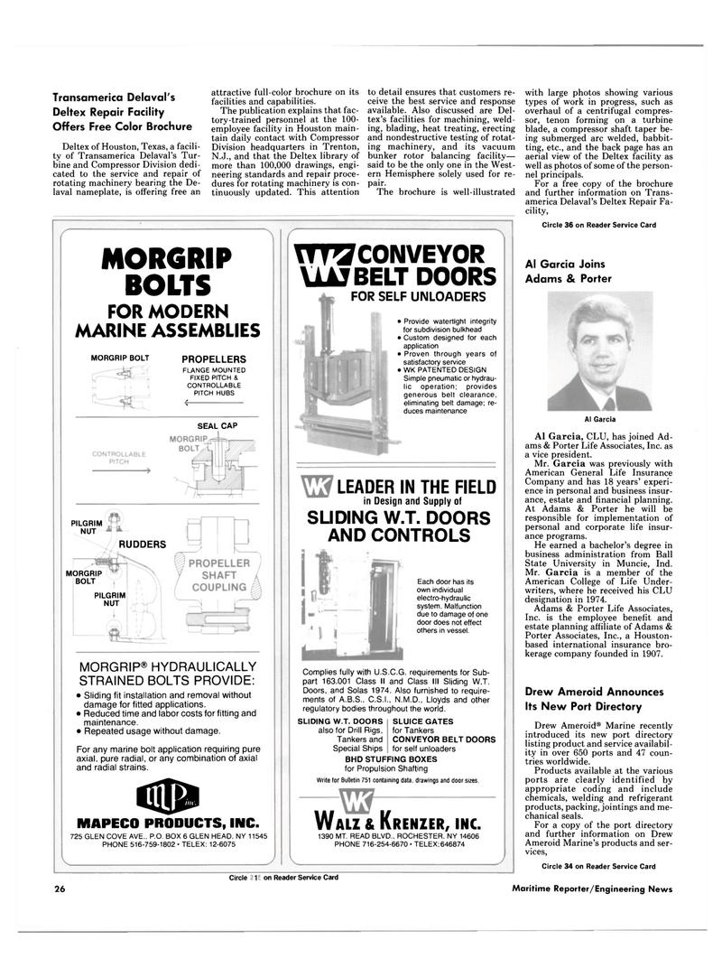 Maritime Reporter Magazine, page 24,  Nov 1985