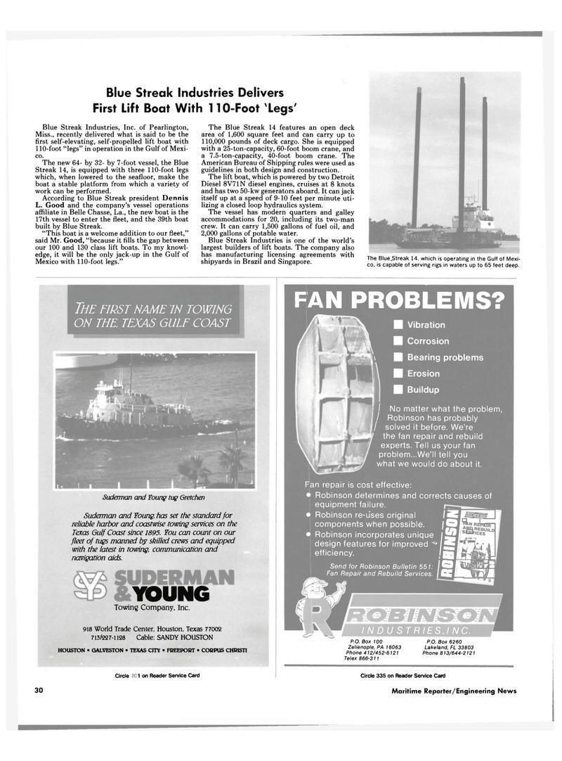 Maritime Reporter Magazine, page 28,  Nov 1985