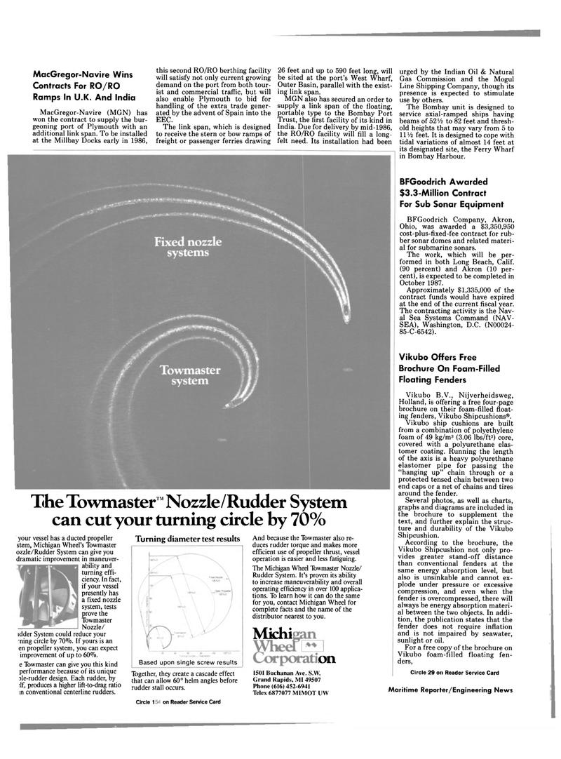 Maritime Reporter Magazine, page 36,  Nov 1985