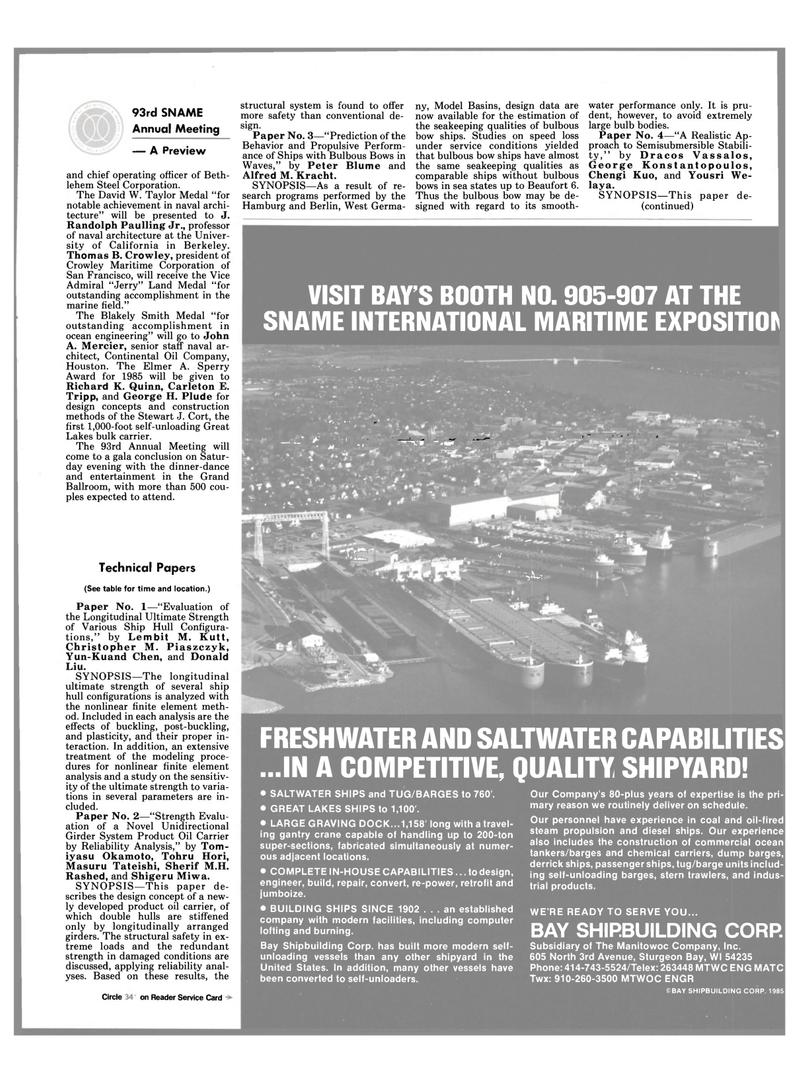 Maritime Reporter Magazine, page 47,  Nov 1985