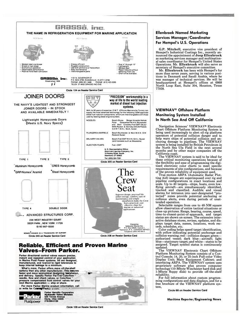 Maritime Reporter Magazine, page 94,  Nov 1985