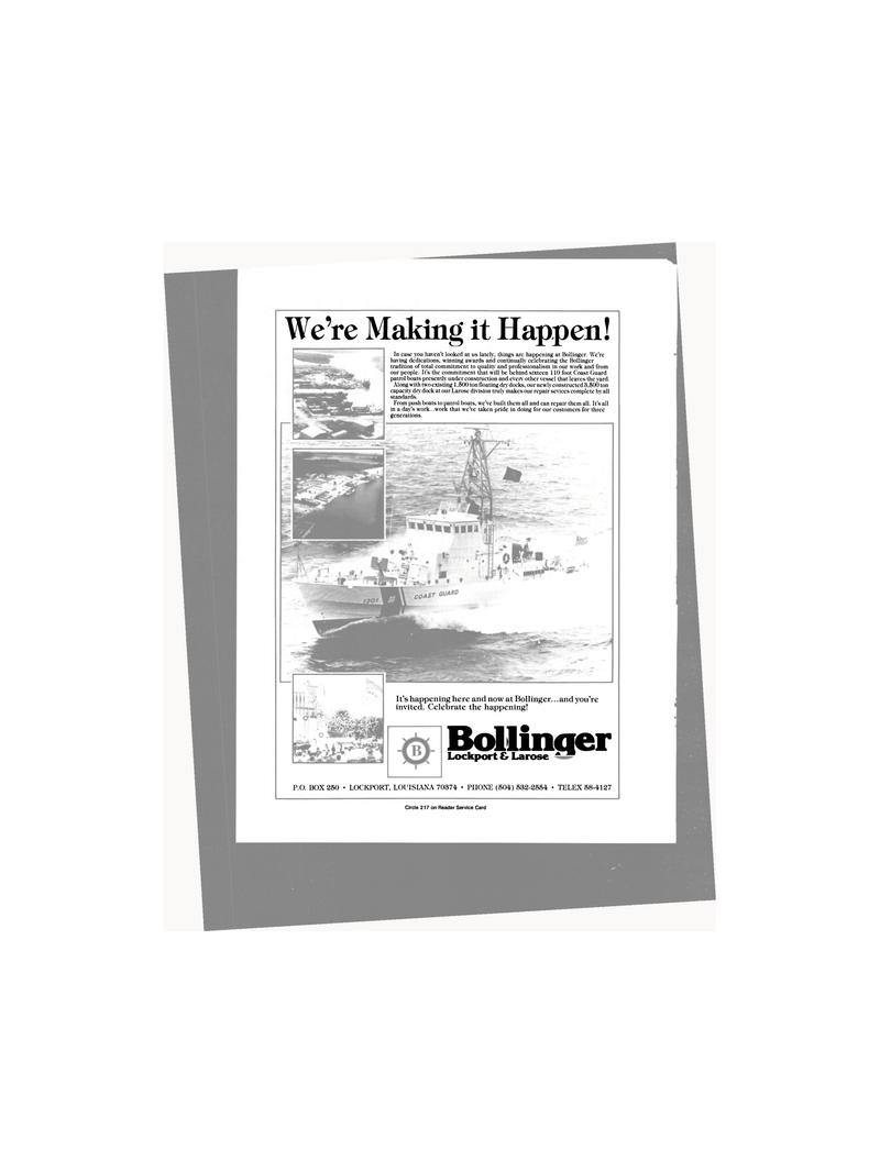 Maritime Reporter Magazine, page 38,  Jan 1986 Louisiana