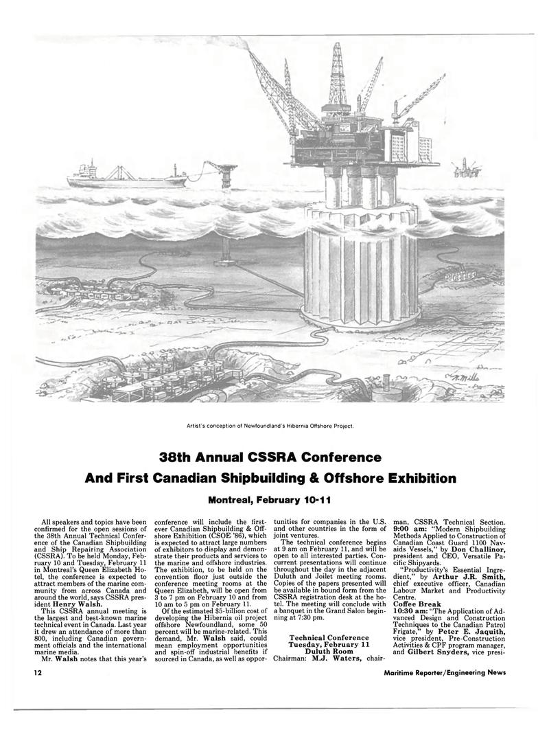 Maritime Reporter Magazine, page 10,  Jan 15, 1986 M.J. Waters
