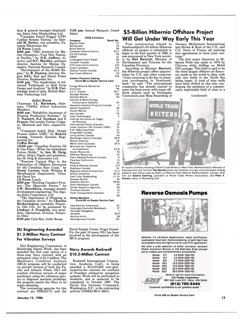 Maritime Reporter Magazine, page 11,  Jan 15, 1986 Canadian east coast