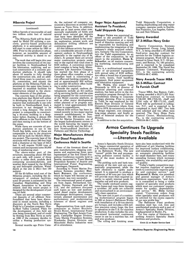 Maritime Reporter Magazine, page 12,  Jan 15, 1986 Terra Nova