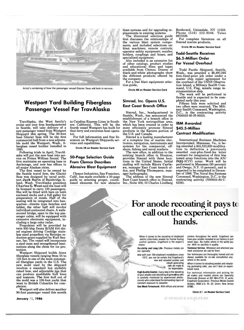 Maritime Reporter Magazine, page 13,  Jan 15, 1986 Virginia