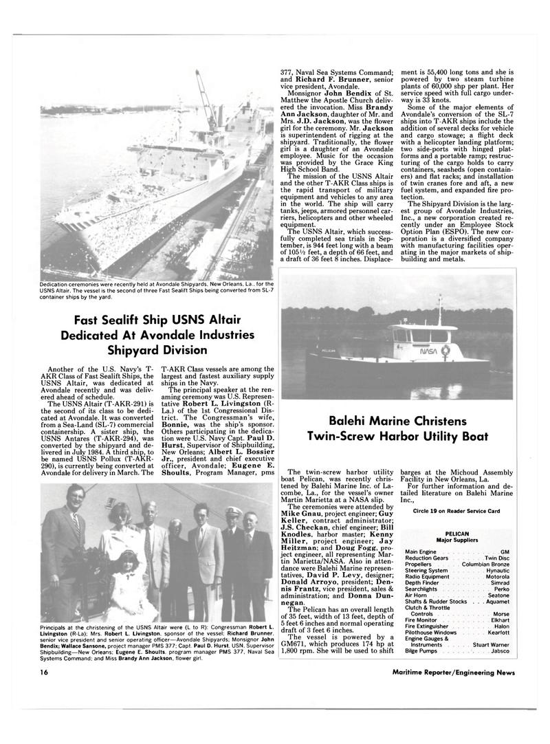 Maritime Reporter Magazine, page 14,  Jan 15, 1986 Mike Gnau