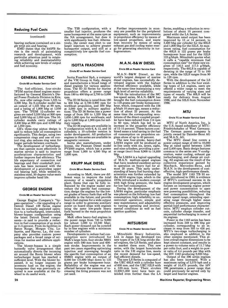 Maritime Reporter Magazine, page 24,  Jan 15, 1986 Power Products Division