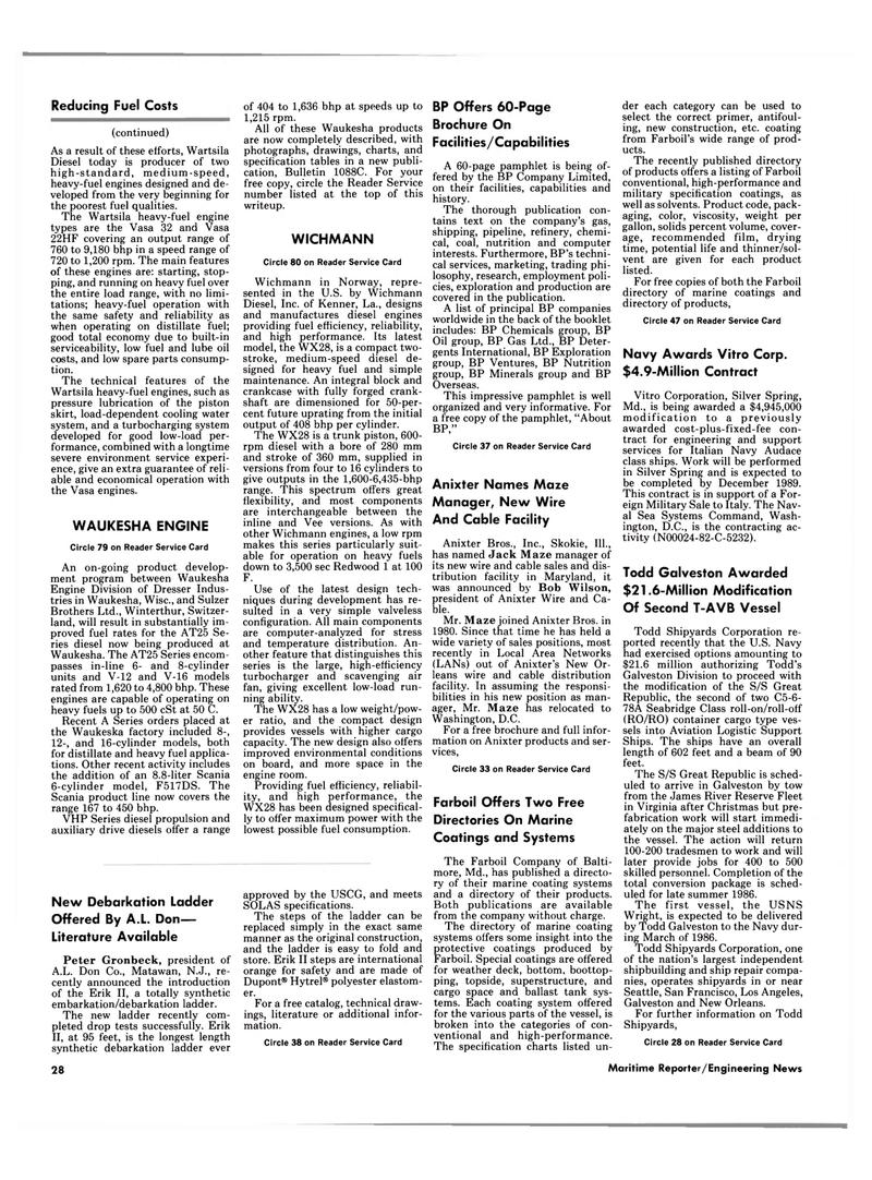 Maritime Reporter Magazine, page 26,  Jan 15, 1986 New Jersey