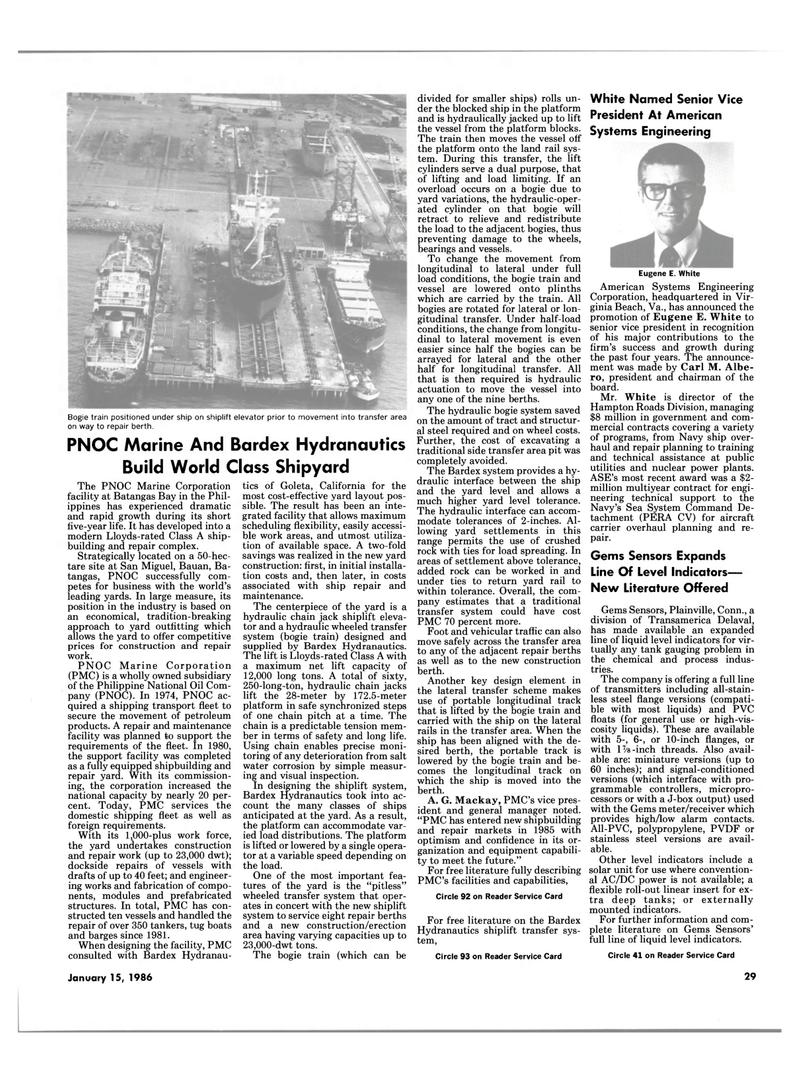 Maritime Reporter Magazine, page 27,  Jan 15, 1986 Virginia