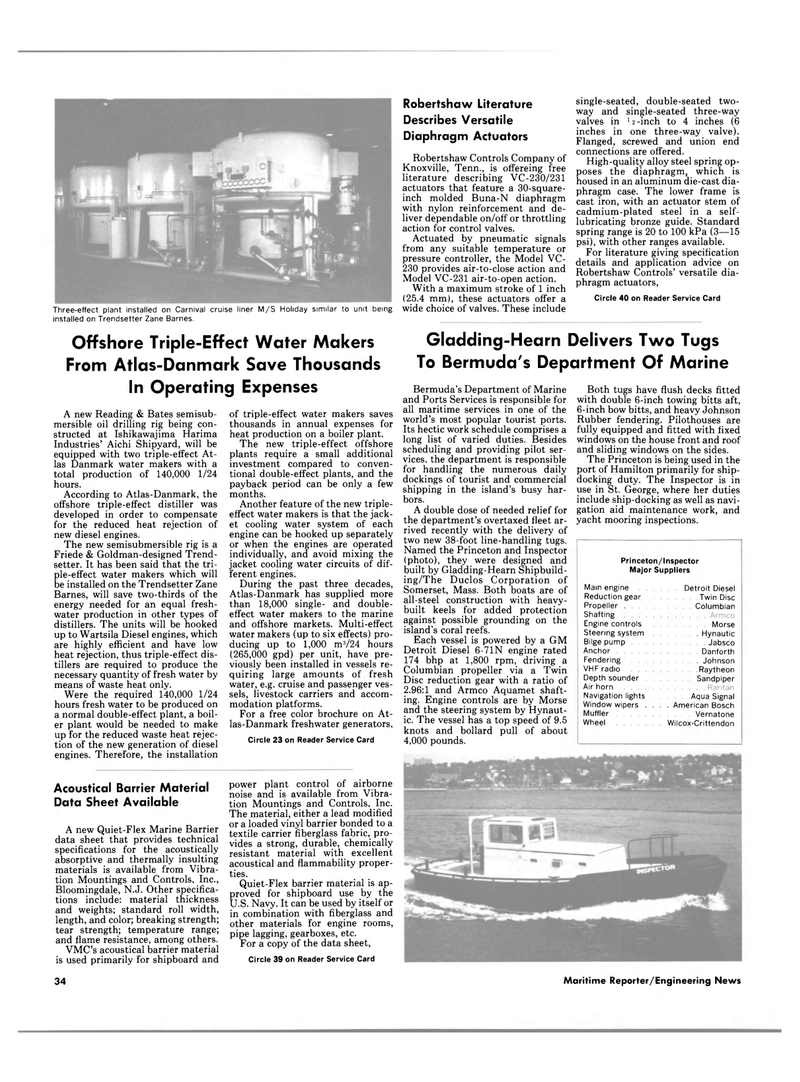 Maritime Reporter Magazine, page 32,  Jan 15, 1986 New Jersey