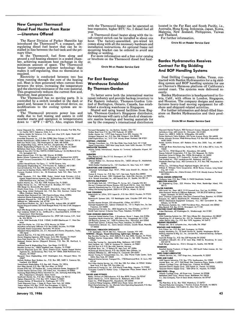 polymer technology, Maritime Reporter Magazine January 15, 1986