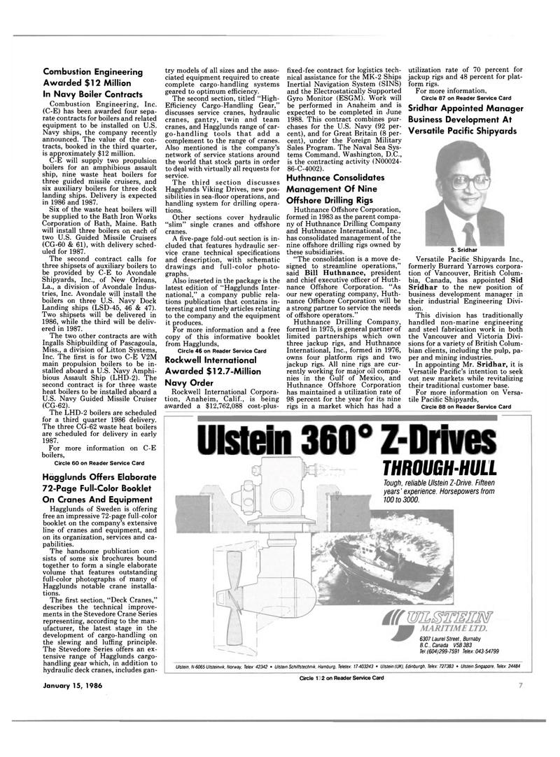 Maritime Reporter Magazine, page 5,  Jan 15, 1986 British Columbia