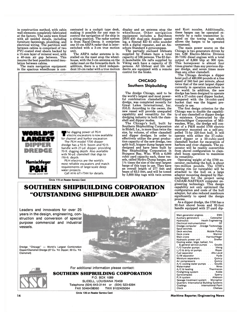 Maritime Reporter Magazine, page 12,  Dec 1986 Wisconsin