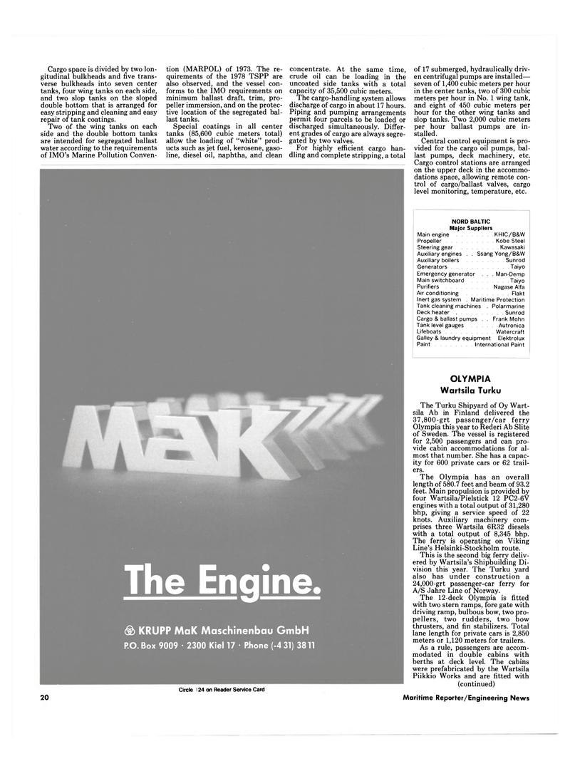 Maritime Reporter Magazine, page 18,  Dec 1986 laundry equipment