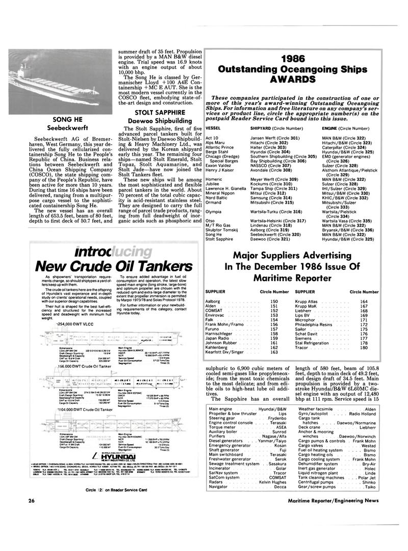 Maritime Reporter Magazine, page 24,  Dec 1986 Alden Propeller