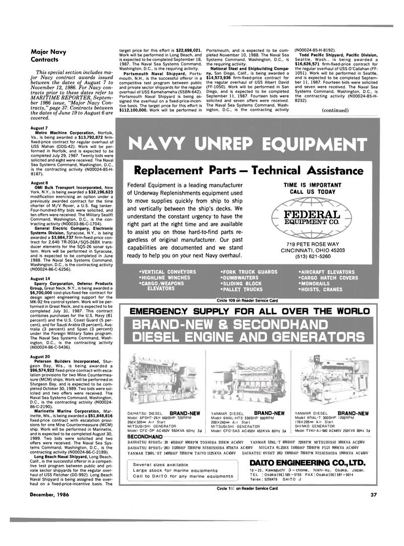 Maritime Reporter Magazine, page 35,  Dec 1986 Ohio