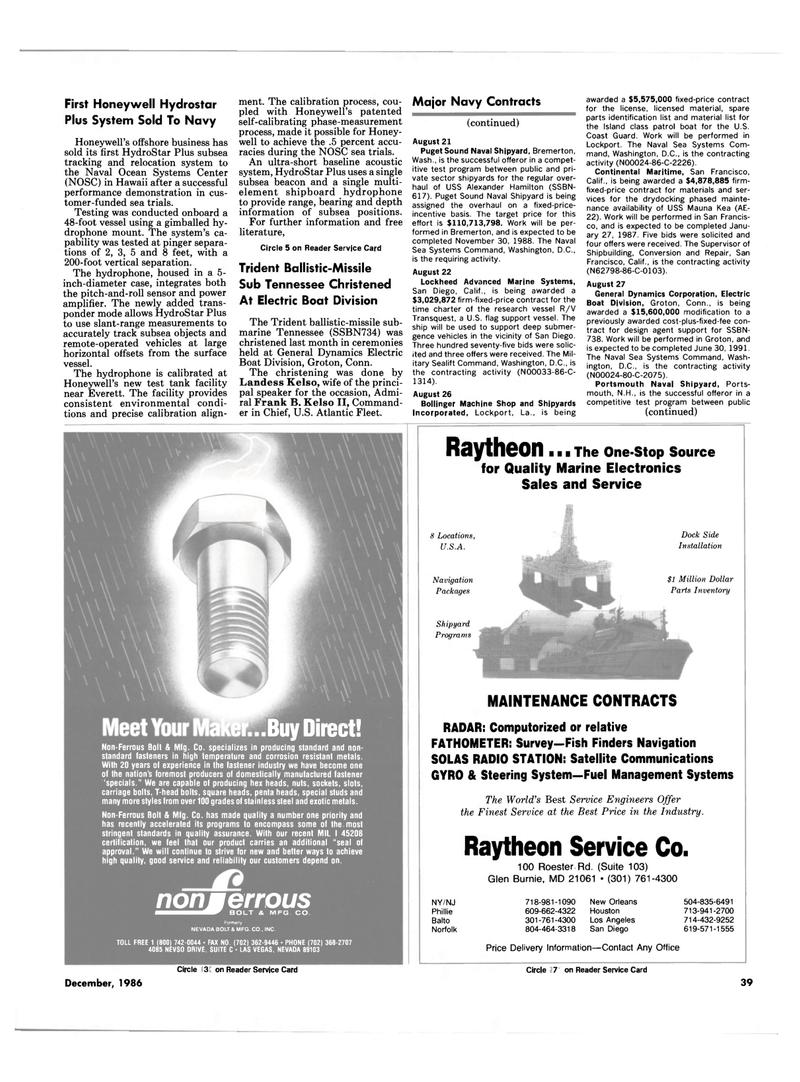 Maritime Reporter Magazine, page 37,  Dec 1986 Washington