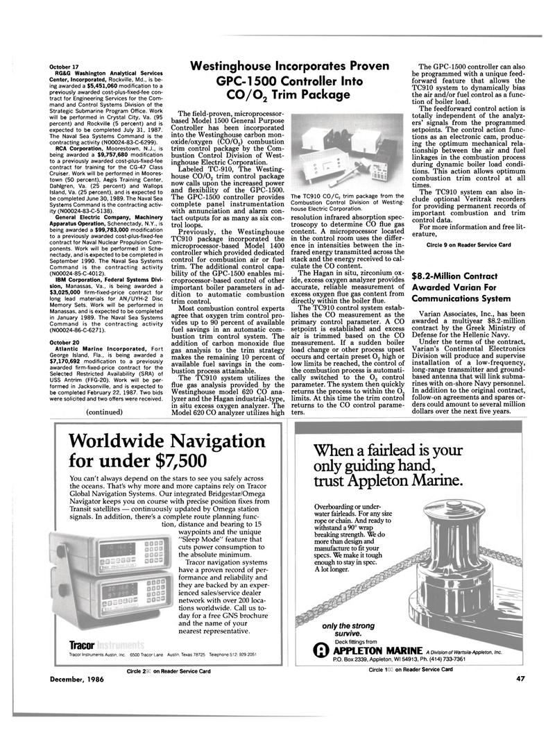 Maritime Reporter Magazine, page 45,  Dec 1986 Maryland