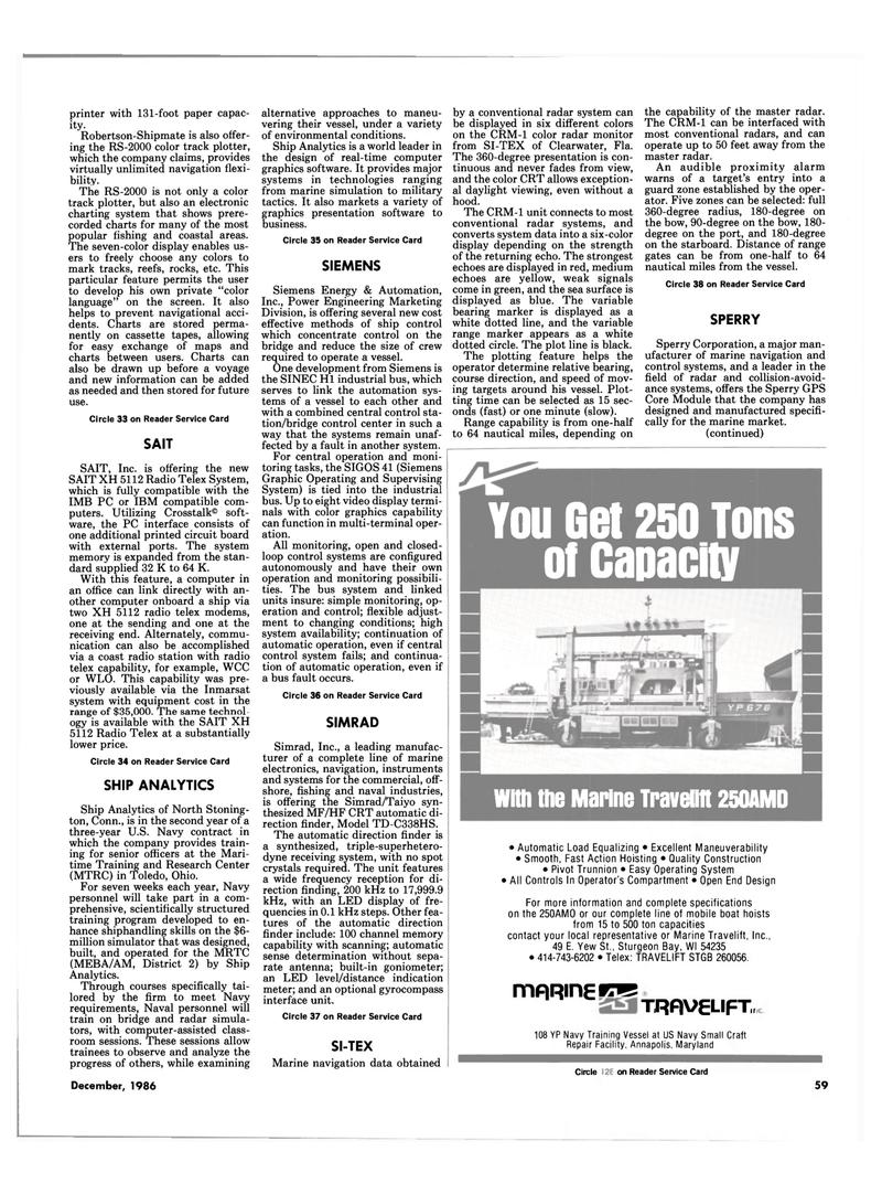 Maritime Reporter Magazine, page 57,  Dec 1986 GPS