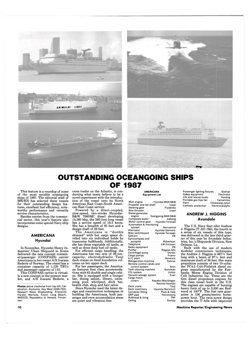 Maritime Reporter Magazine, page 8,  Dec 1987