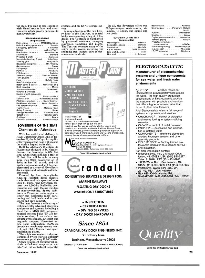 Maritime Reporter Magazine, page 15,  Dec 1987