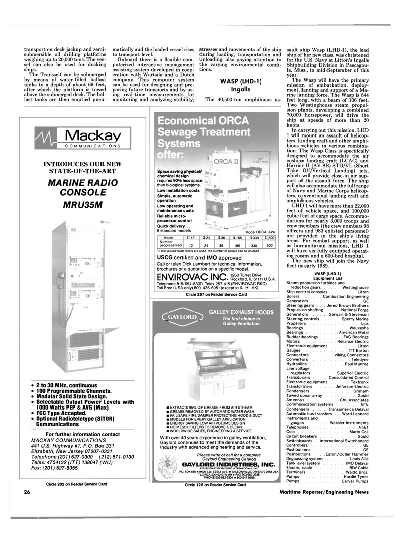 Maritime Reporter Magazine, page 18,  Dec 1987