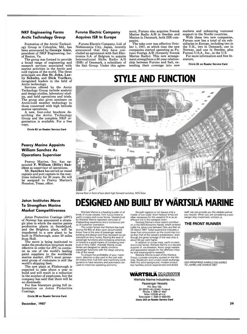 Maritime Reporter Magazine, page 21,  Dec 1987