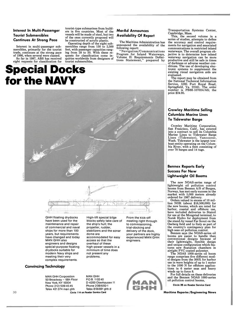Maritime Reporter Magazine, page 22,  Dec 1987