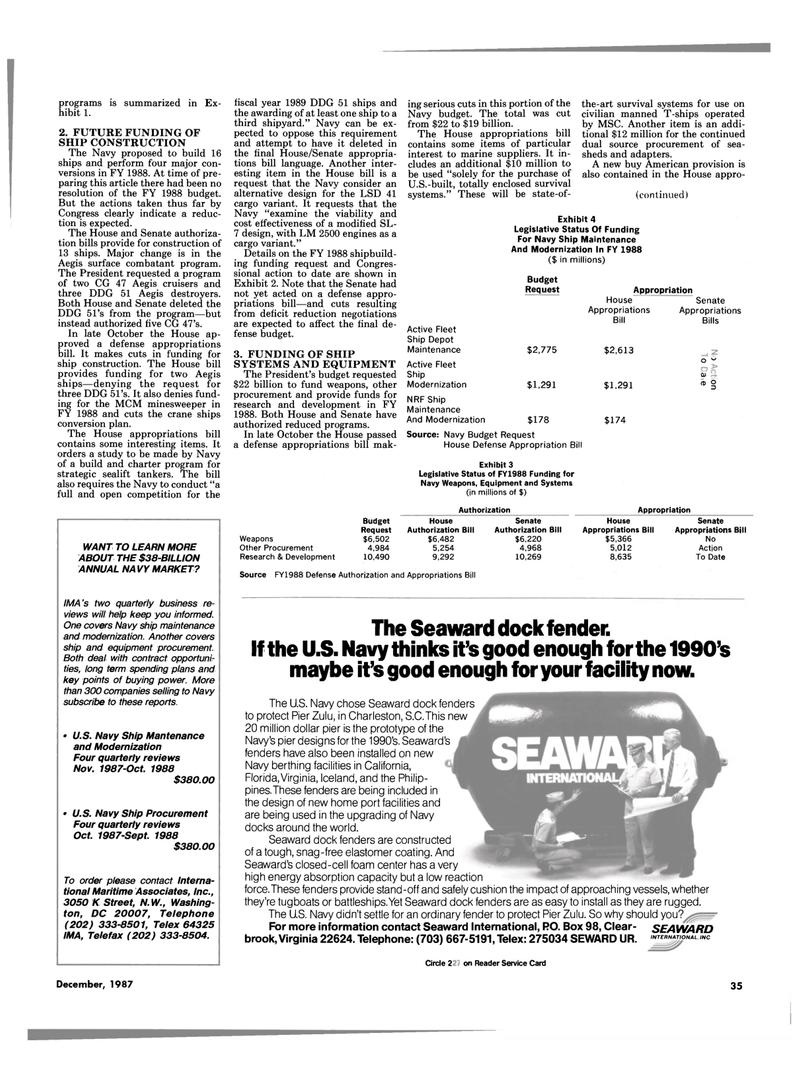 Maritime Reporter Magazine, page 27,  Dec 1987