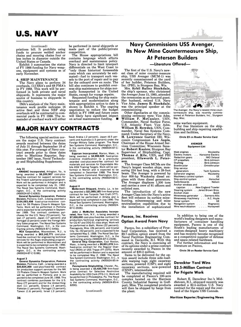 Maritime Reporter Magazine, page 28,  Dec 1987