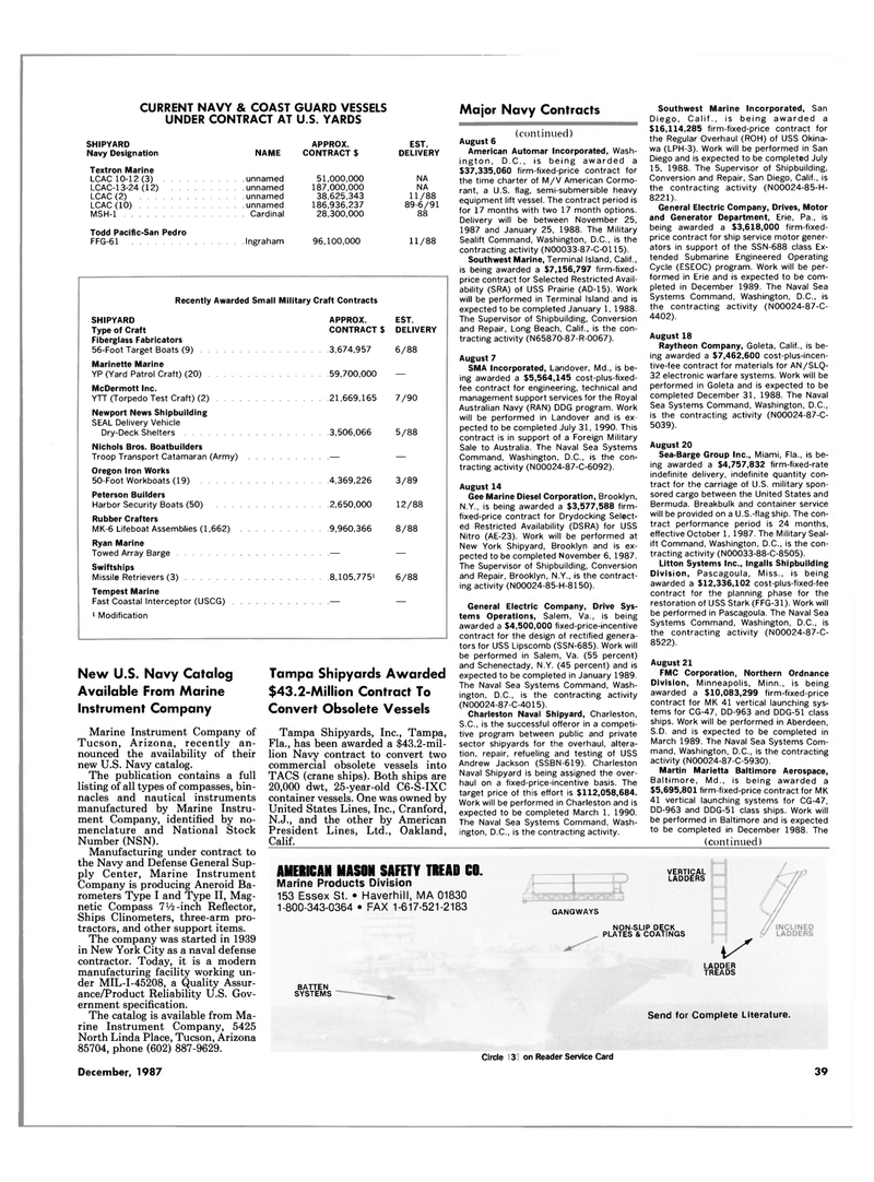 Maritime Reporter Magazine, page 31,  Dec 1987