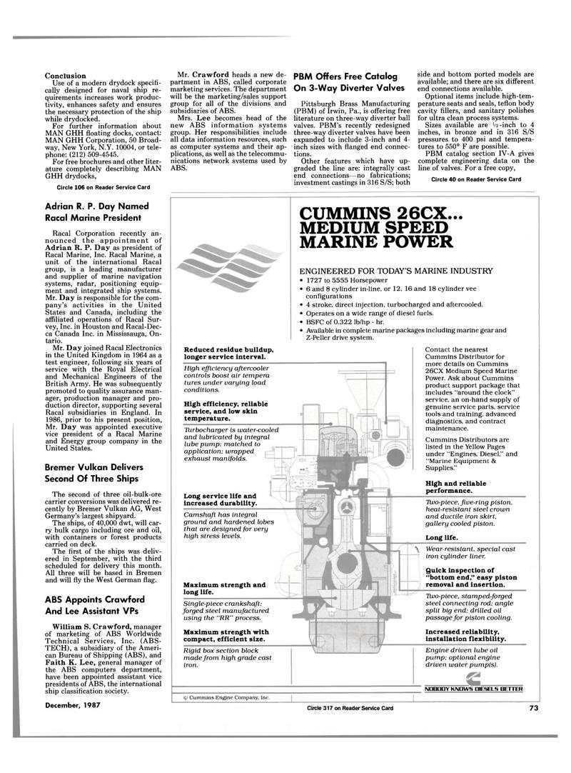 Maritime Reporter Magazine, page 59,  Dec 1987