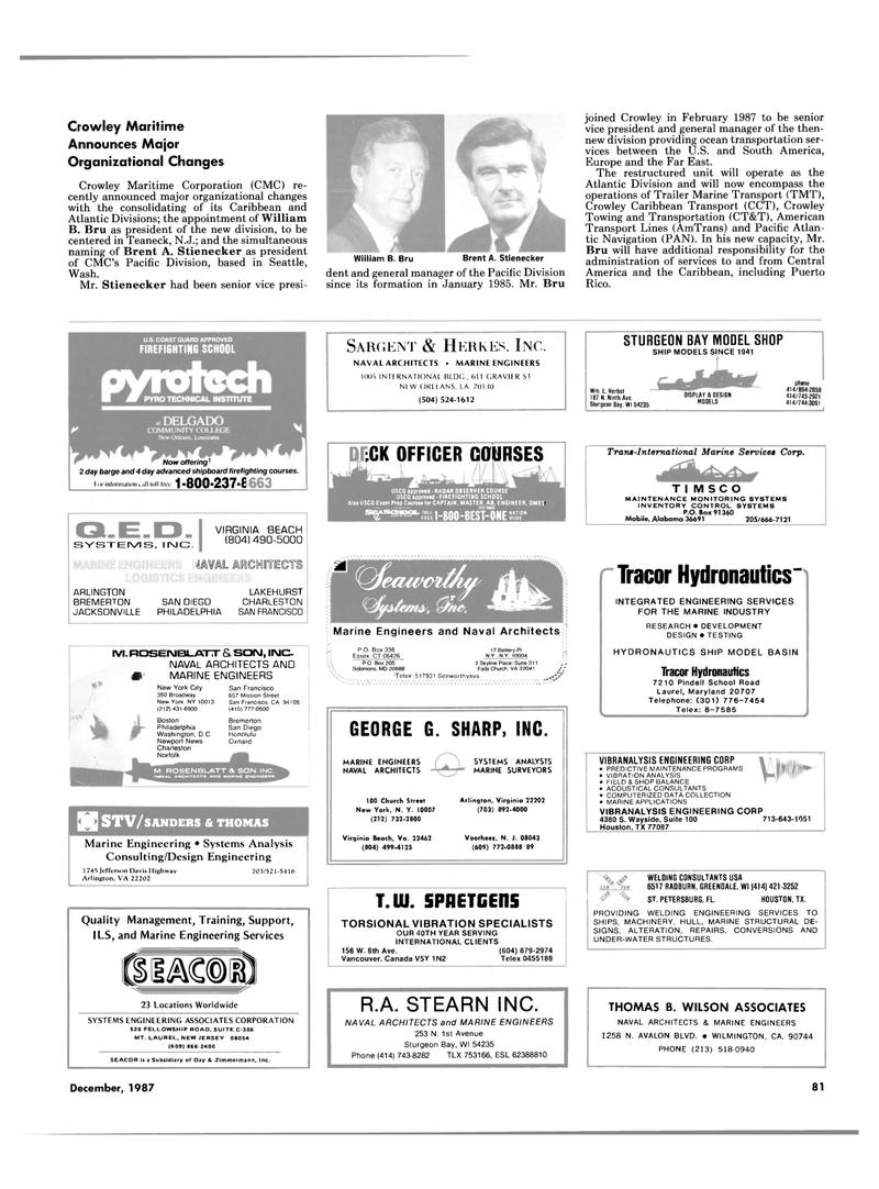 Maritime Reporter Magazine, page 67,  Dec 1987