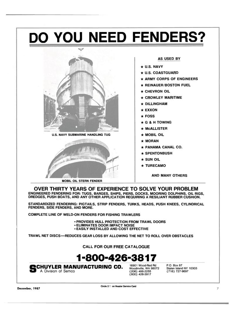 Maritime Reporter Magazine, page 5,  Dec 1987