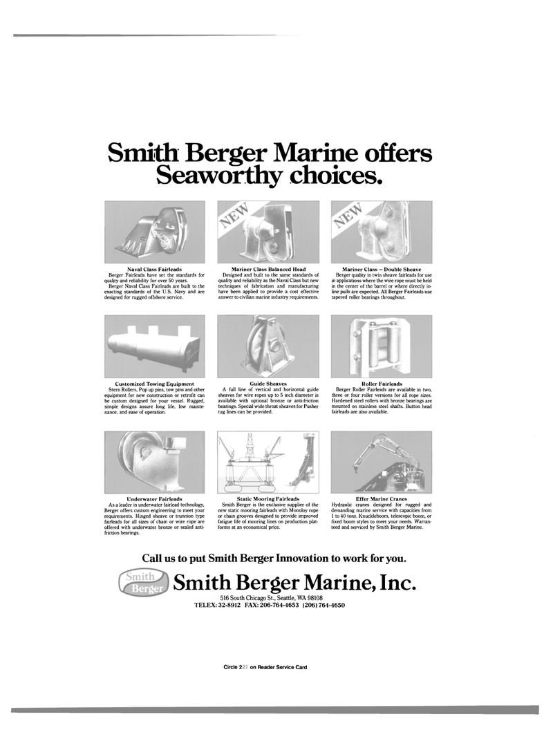 underwater fairlead technology, Maritime Reporter Magazine May