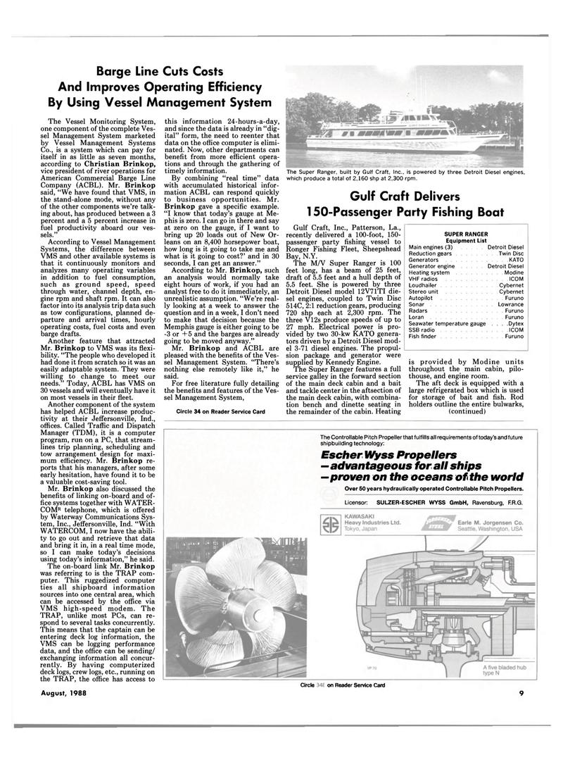 Maritime Reporter Magazine, page 7,  Aug 1988