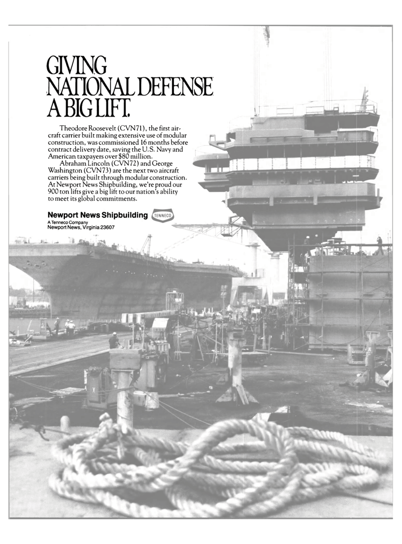 Maritime Reporter Magazine, page 2nd Cover,  Feb 1989 Abraham Lincoln