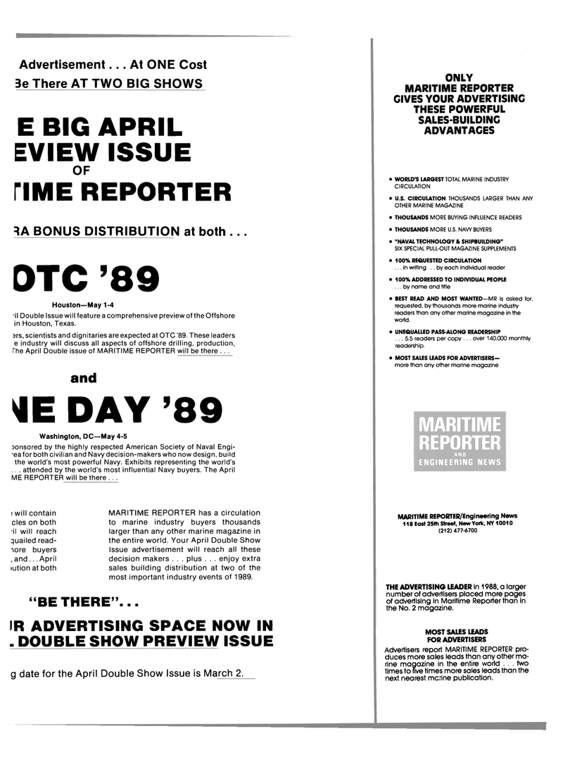 Maritime Reporter Magazine, page 19,  Feb 1989 United States Navy