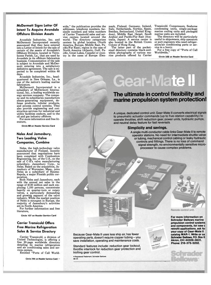 Maritime Reporter Magazine, page 23,  Feb 1989 Massachusetts