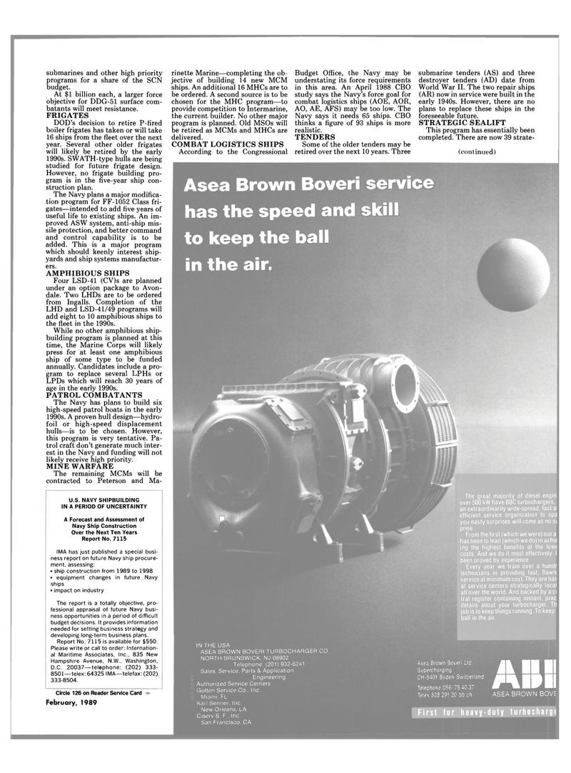 Maritime Reporter Magazine, page 31,  Feb 1989 United States Navy