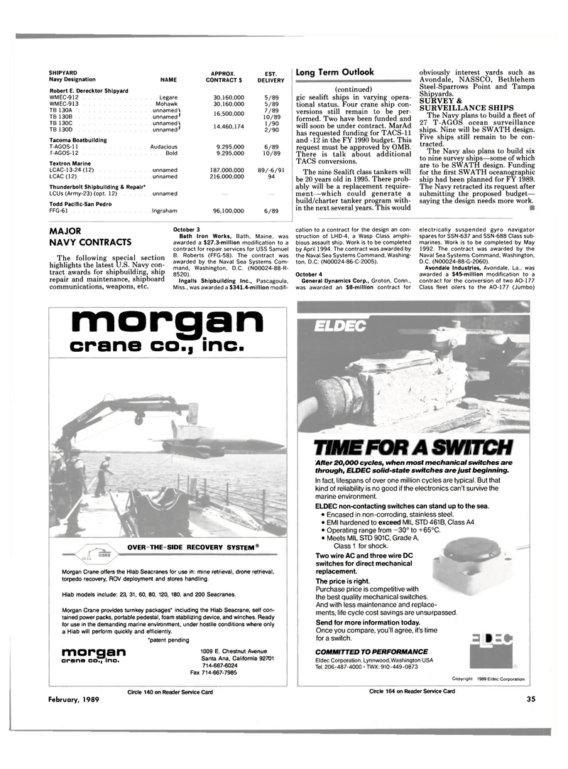 Maritime Reporter Magazine, page 33,  Feb 1989 Mississippi