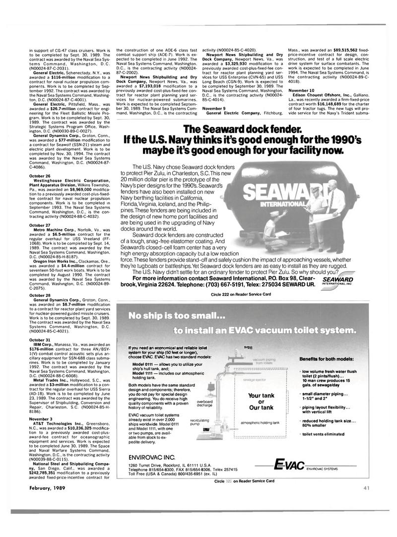 Maritime Reporter Magazine, page 39,  Feb 1989 Florida
