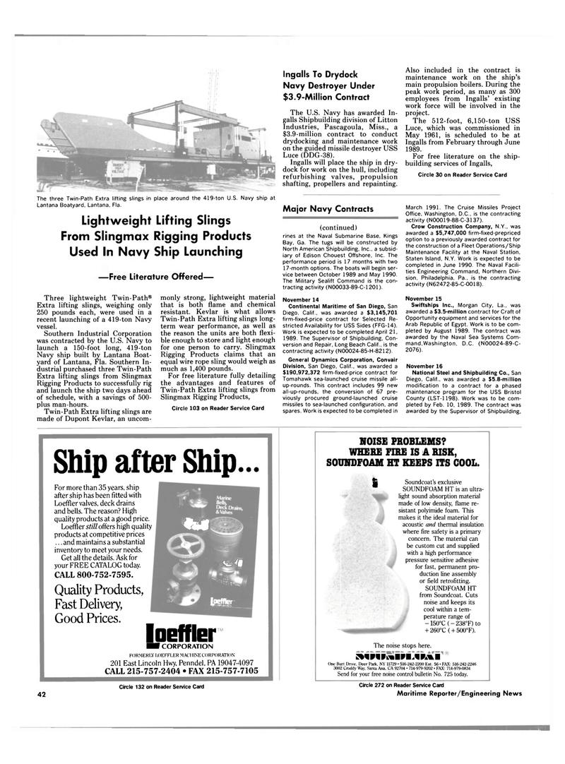Maritime Reporter Magazine, page 40,  Feb 1989 Florida